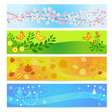 Seasons banners Stock Image