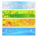 Seasons banners Stock Image