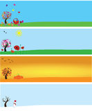 Seasons banners Royalty Free Stock Image
