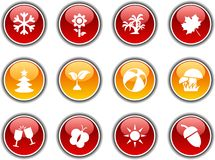Seasons  buttons. Stock Photo