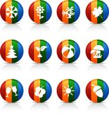 Seasons  buttons. Stock Photos