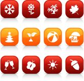 Seasons  buttons. Royalty Free Stock Photography