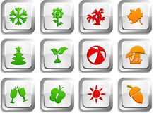 Seasons  buttons. Stock Images