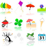 Seasons Change Icons Stock Image