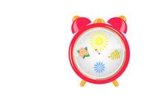 Seasons clock Stock Image