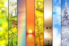 Seasons collage royalty free stock photos