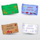Seasons collection shop label Stock Photography