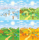 Seasons in the countryside Royalty Free Stock Image