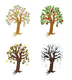 Seasons decorative tree, vector Royalty Free Stock Images