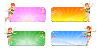 Seasons Faeries Header/Banner Stock Photos