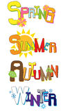 Seasons. Four Seasons - Spring, Summer, Autumn and Winter Royalty Free Stock Images