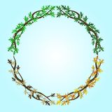Seasons frame - oak Royalty Free Stock Photos