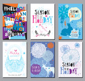 Seasons greeting cards and illustrations. Royalty Free Stock Photography