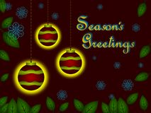 A Seasons Greeting Royalty Free Stock Photography