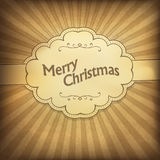 Seasons greeting retro card. Royalty Free Stock Images