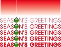 Seasons greetings Stock Photography