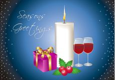 Seasons Greetings. A greeting card for the festive season Royalty Free Stock Photography