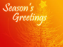 Seasons Greetings. Merry christmas seasons greetings on tree illustration Royalty Free Stock Photography