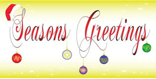 Seasons greetings banner Stock Photography