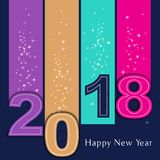 Happy 2018 New Year. Royalty Free Stock Image