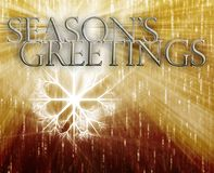 Seasons Greetings concept background Stock Images