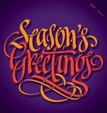SEASONS GREETINGS hand lettering () Stock Photos