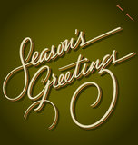 SEASONS GREETINGS hand lettering (vector) Stock Image