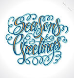 SEASONS GREETINGS hand lettering (vector) Stock Photo