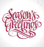 SEASONS GREETINGS hand lettering (vector) Royalty Free Stock Photos