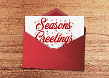 Seasons Greetings message Royalty Free Stock Photography