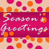 Seasons Greetings Peach Pink Circles Royalty Free Stock Photo
