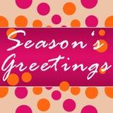 Seasons Greetings Peach Pink Circles Royalty Free Stock Photo