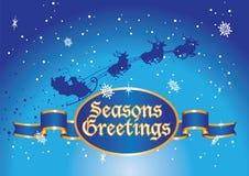 Seasons greetings santa Stock Image