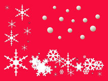Seasons Greetings -Snow Flake illustrator Stock Image
