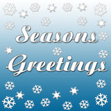 Seasons greetings snowfall Stock Photos