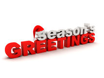 Seasons greetings text Royalty Free Stock Photos