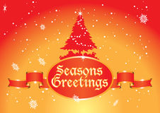 Seasons greetings tree Stock Image