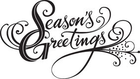 Seasons Greetings. Vector version of my own calligraphy Royalty Free Stock Images