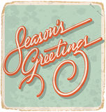 SEASONS GREETINGS vintage card (vector) Royalty Free Stock Image