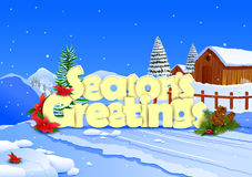 Seasons Greetings wallpaper background Stock Photo