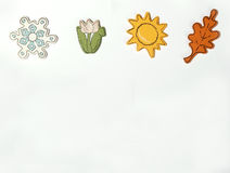Seasons - horizontal. Seasonal icons Stock Photo