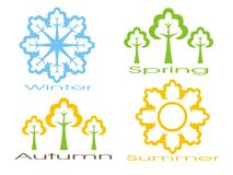 Seasons icon set Royalty Free Stock Photography