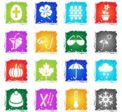 Seasons icon set Stock Photography