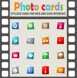Seasons icon set Royalty Free Stock Photo