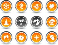 Seasons icons. Royalty Free Stock Photo