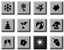 Seasons icons. Stock Image