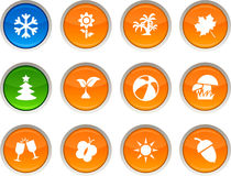 Seasons icons. Royalty Free Stock Image