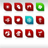 Seasons icons. Stock Photo