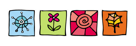 Seasons icons. Elements for your design. To see more pictograms and icons, please visit my gallery Stock Illustration
