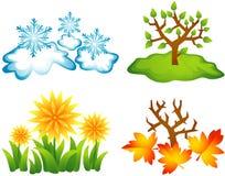 Seasons icons Stock Photos